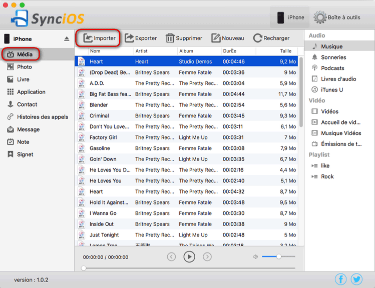 import itunes music to iPhone